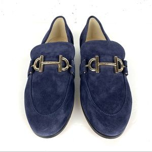 Cole Haan Modern Classics Suede Loafer Marine Blue Eco Flora Size 7